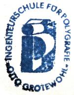Ingenieurschule für Polygrafie Leipzig, ISP, Logo, Otto Grotewohl